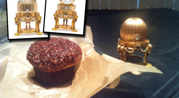 What a find: The ultra-rare Fabergé egg made for Russian royalty...next to a cupcake