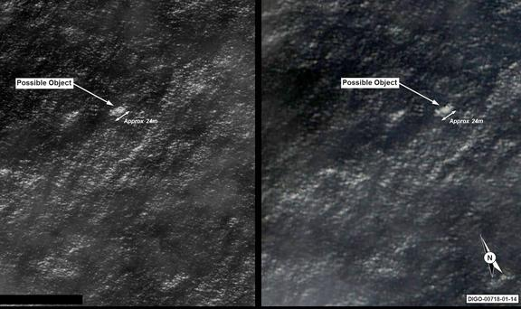 Satellite imagery of objects possibly related to the search for #MH370