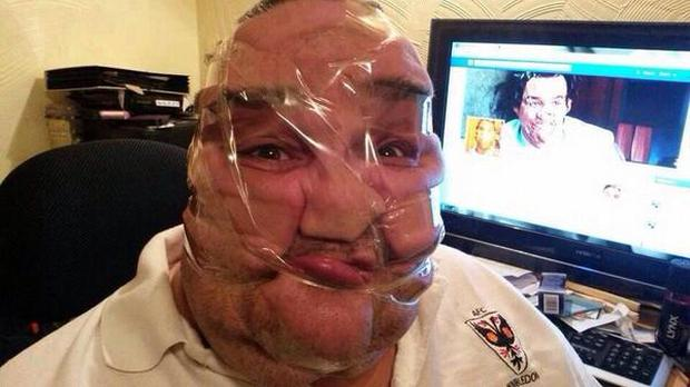 Sellotape selfies craze has gone viral on Twitter and Facebook