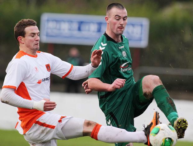 Two sides in contention Carrick Rangers and Dundela do battle in the Irish Cup