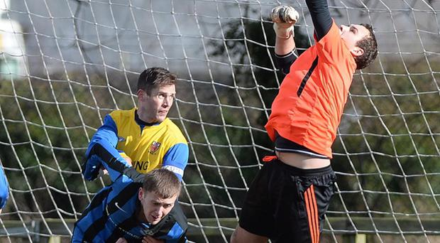Action from Dunmrry Rec v Woodvale in the Clarence Cup 4th Round