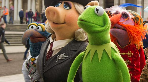 Kermit the Frog and Miss Piggy in Muppets Most Wanted. PA Photo/2013 Disney Enterprises