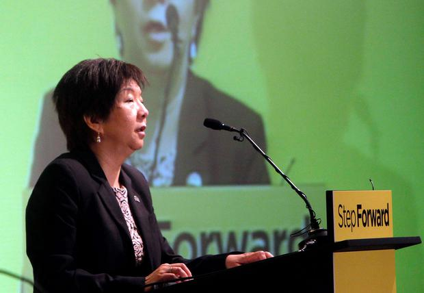Anna Lo speaking at the Alliance Party Conference