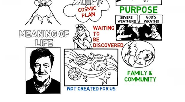 Stephen Fry explains the meaning of life in just three minutes (scroll down for video)