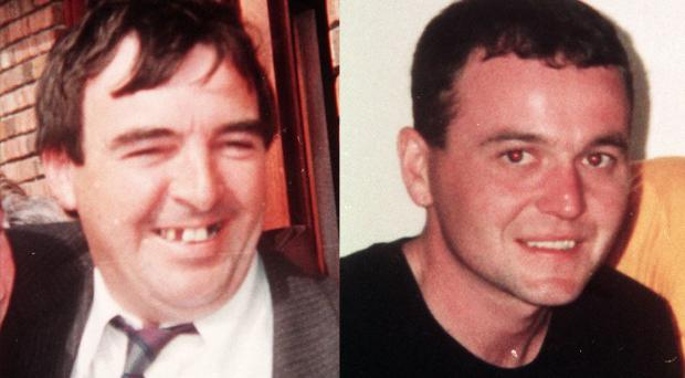 Catholic builders Eamon Fox (left) and Gary Convie were murdered in 1994 as they ate lunch in their car