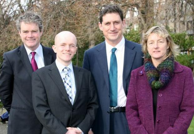 Green Party candidate for Europe, Ross Brown (second left)