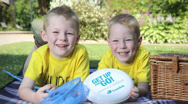 Identical twins Diarmuid and Cormac Frazer. Diarmuid passed away in hospital after he was struck by a car on Wednesday