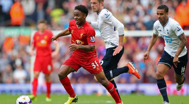 Raheem Sterling is one of a number of young Liverpool players who were not born the last time the club won the league. (Photo by Alex Livesey/Getty Images)