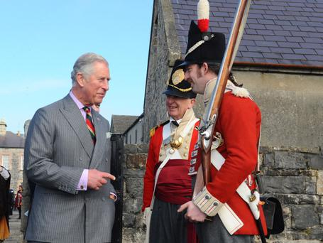 The Prince of Wales pictured at the Fermanagh County Museums. Photo Simon Graham/Harrisons