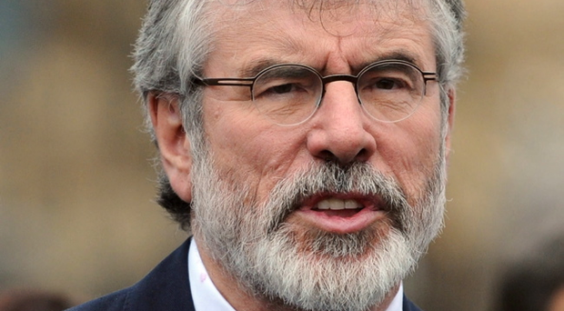 Support for Sinn Fein party president Gerry Adams has risen nine points in the past two months