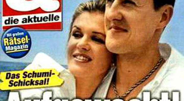 The cover of Die Aktuelle which caused uproar from many Schumacher fans
