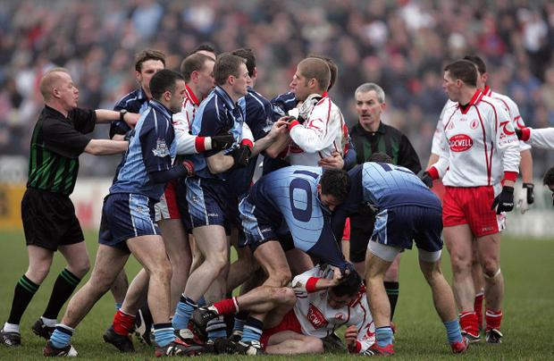 Dublin and Tyrone players came to blows in 2008