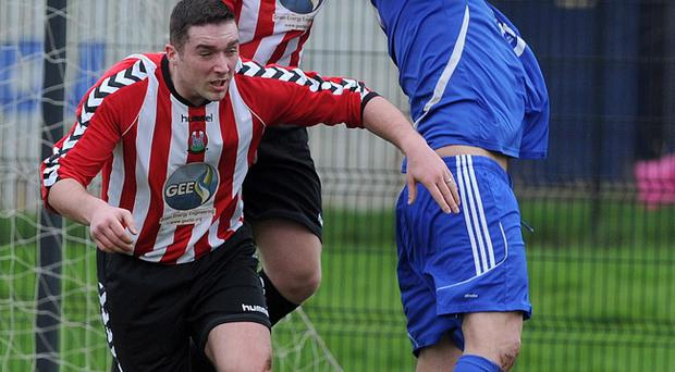 Action from Rathfern Rangers v Downshire YM ion the Amateur League Division 1B