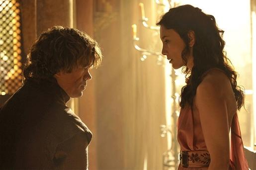 Game of Thrones Tyrion and Shae have words HBO