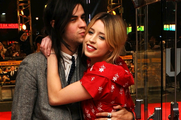 Peaches Geldof and Thomas Cohen attend the UK Premiere of The Wolf of Wall Street at London's Leicester Square on January 9, 2014 in London, England. (Photo by Anthony Harvey/Getty Images for Universal Pictures)