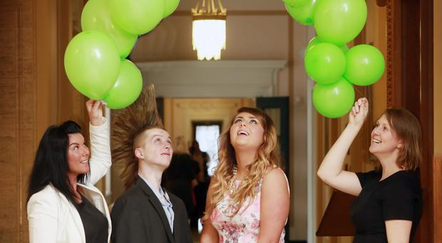 Charmaine Lyttle (The Prince's Trust), participants in the Get into Retail with Asda Programme Conor McCullough and Jacqueline Walsh and Charlotte Elliott (Asda)