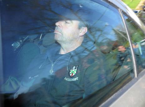 High-profile republican Seamus Daly pictured arriving at Dungannon Court earlier this month