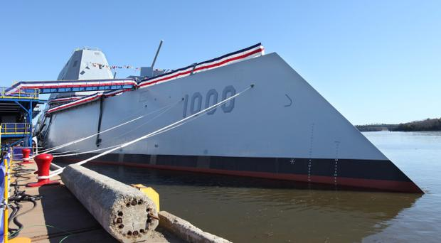Zumwalt: The US Navy on Saturday christened the first of its newest class of destroyers