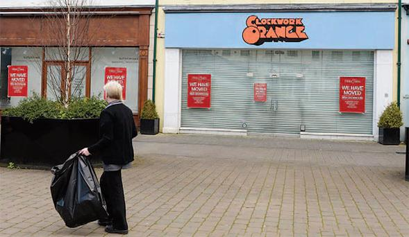 Some of the vacant shops in Lisburn city centre