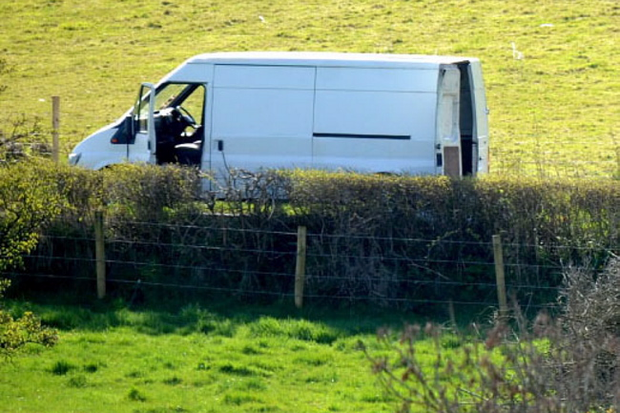 Police arrested two men after a van was stopped in Co Tyrone. Pic Pacemaker