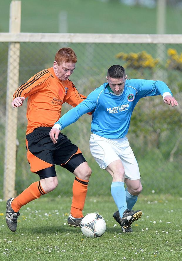 Action from Portaferry Rovers v Colin Valley in the Amateur League Division 1C