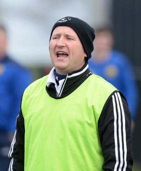 Crumlin Stars manager Sean Brown