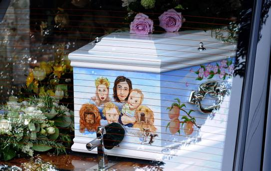 FAVERSHAM, ENGLAND - APRIL 21: General View during the funeral of Peaches Geldof, who died aged 25 on April 7, at St Mary Magdalene & St Lawrence Church on April 21, 2014 in Faversham, England. (Photo by Stuart C. Wilson/Getty Images)