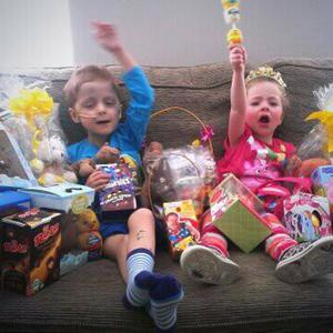 Easter Sunday brought a tweet carrying with it a photo of this wonderful boy Oscar Knox and his sister, Izzie, surrounded by Easter eggs.