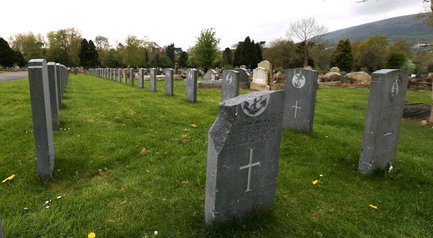 A number of graves at Belfast's City Cemetery, including some of people who died in WW1 and WW2, have been damaged by vandals. One of the headstones at the Falls Road cemetery was smashed, while the others were damaged.