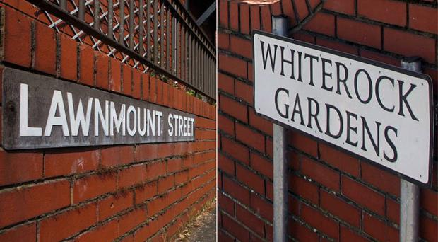 Two areas of Belfast where hate crimes took place this week