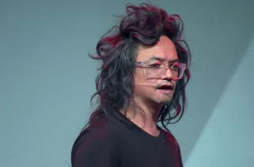 With his gravity-defying hair, David Shing cut a flamboyant figure at the Next Web Europe Conference in Amsterdam