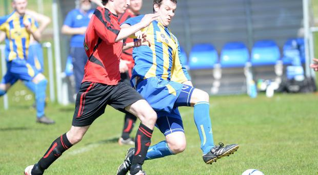 Action from Kilroot Rec v Bangor Swifts, April 26