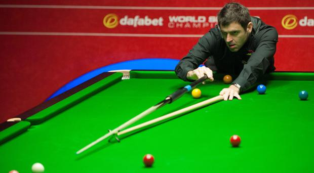 Ronnie O'Sullivan during his match against Shaun Murphy during the Dafabet World Snooker Championships at The Crucible, Sheffield