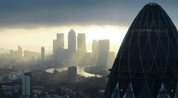 Skyscrapers dominate the skyline in London's financial district. Moy Park and parent company Marfrig is considering flotation, possibly on the London Stock Exchange