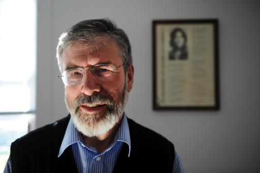 Gerry Adams in the Sinn Fein offices at Stormont in 2010. CHARLES MCQUILLAN/PACEMAKER.