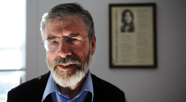 Sinn Fein leader Gerry Adams was arrested by police on Wednesday night