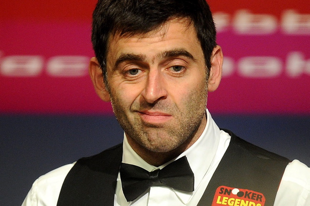 Ronnie O'Sullivan went four frames ahead of Barry Hawkins after the first session. Pic Martin Rickett