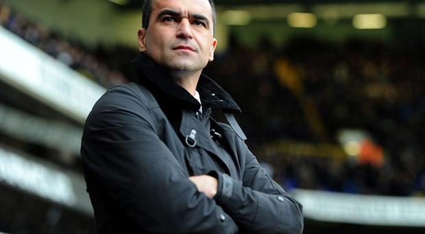 Everton manager Roberto Martinez's team face Manchester City today in a match that could be crucial for Liverpool's title ambitions