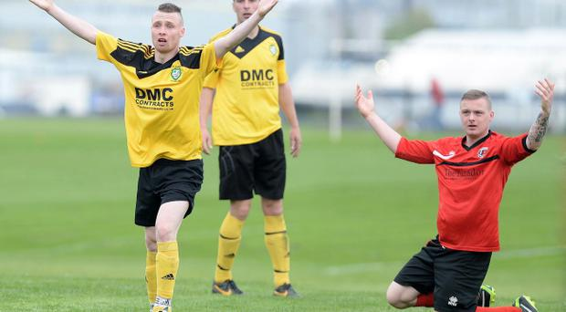 Gerard Bannon (left) in action for St James Swifts