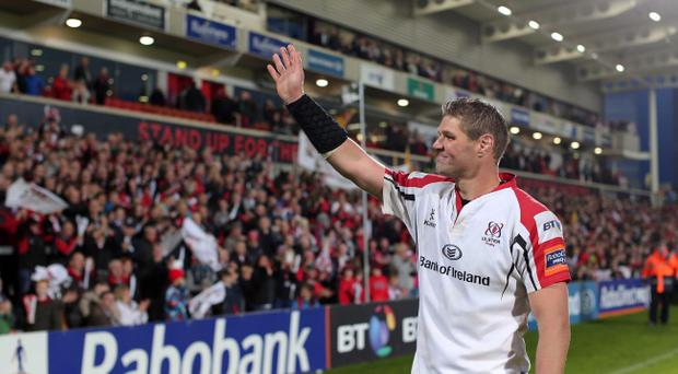 Wave of emotion: Johann Muller says goodbye at his final Ulster home game