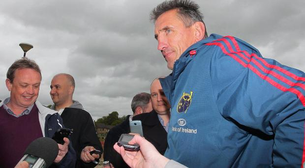 On the spot: Munster coach Rob Penney is quizzed ahead of Saturday's clash with Ulster in Limerick