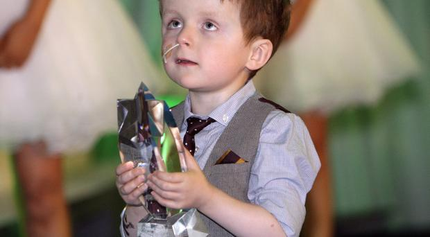Sunday Life Spirit Of Northern Ireland over-all winner Oscar Knox at the awards dinner in the Culloden Hotel Holywood, Friday 14th June 2013