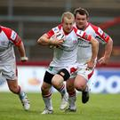 Ulster's Michael Heaney during the RaboDirect PRO12 clash against Munster at Thomond Park, Limerick 10/5/2014
