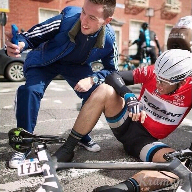 David McCarthy boasted of taking a selfie with Marcel Kittel instead of helping him