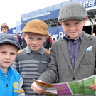 First day of the Balmoral Show Pictured are Michael,Eoin and Dillon McNamee from Crossmaglen. Picture by Stephen Hamilton / Press Eye.