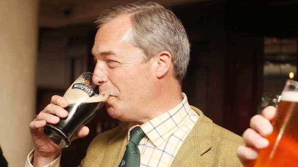 Ukip leader Nigel Farage spends the day in Northern Ireland. Pic Jonathan Porter/Presseye