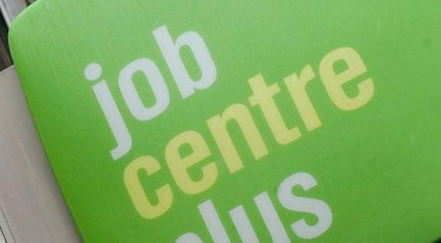 'Claims for Jobseekers allowance fell by 800 to 56,100 in April, the Northern Ireland Statistics and Research Agency said'