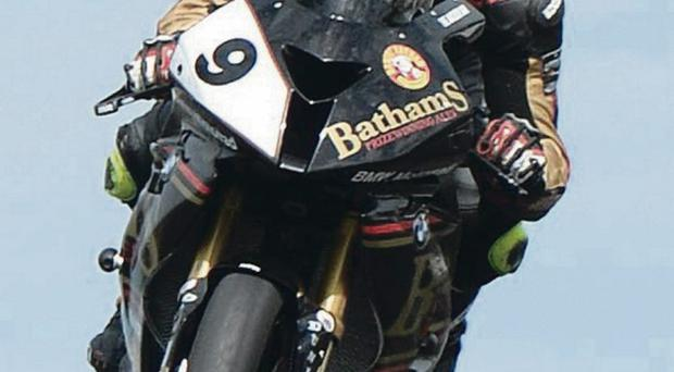 Michael Rutter during todays Vauxhall International North West 200 Superbike practice session