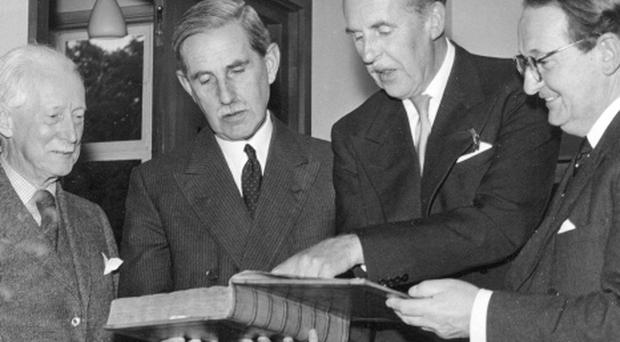 The Duke of Abercorn at the opening of the Armagh Museum. 6/9/1962
