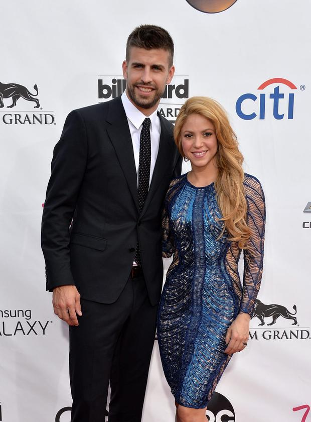 LAS VEGAS, NV - MAY 18: Singer Shakira (R) and soccer player Gerard Pique attend the 2014 Billboard Music Awards at the MGM Grand Garden Arena on May 18, 2014 in Las Vegas, Nevada. (Photo by Frazer Harrison/Getty Images)